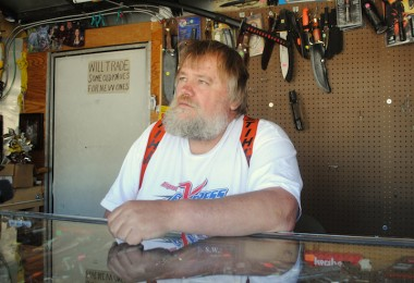 Meet Bobcat John. He Sells Knives To Oil Workers.